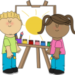 kids-painting-on-easel